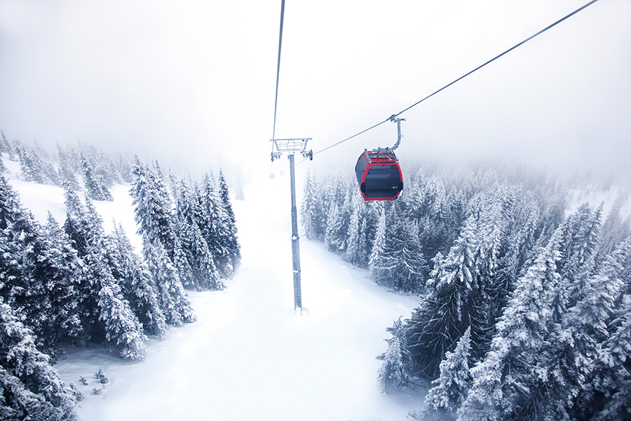 Christine Cox; Seattle Commercial Photographer; Crystal Mountain; Christmas Day 2014; Mt Rainier Gondola