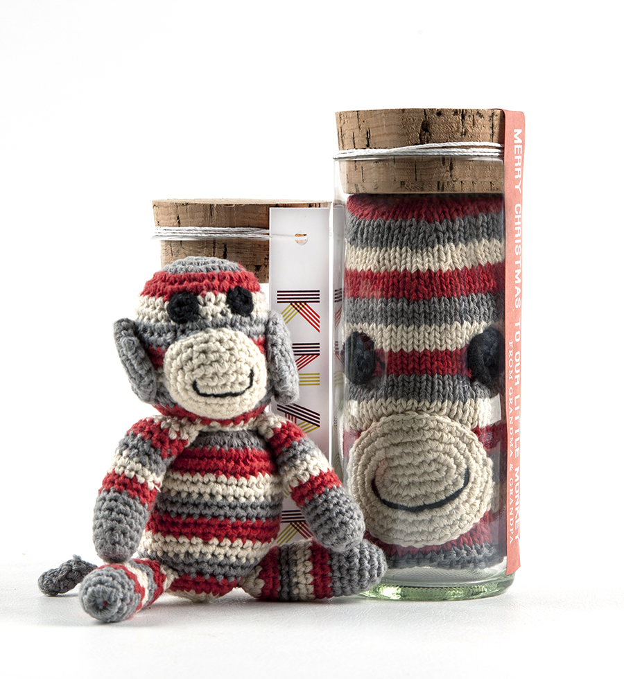 Baby gift sets; jarbiz; toys; glass jars; recycled glass; Christine Cox; Seattle Photographer; 2015; Product Photography