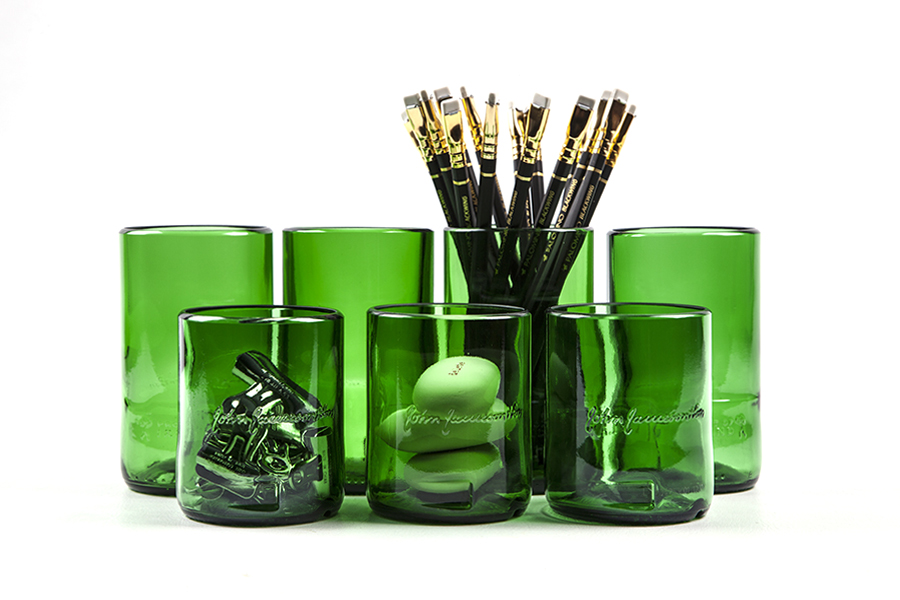 Christine Cox; Seattle Photographer; Product Photography; Glasses; recycled glass; glass jars; 2015
